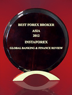 Najlepszy Broker w Azji 2012 według Global Banking & Finance Review